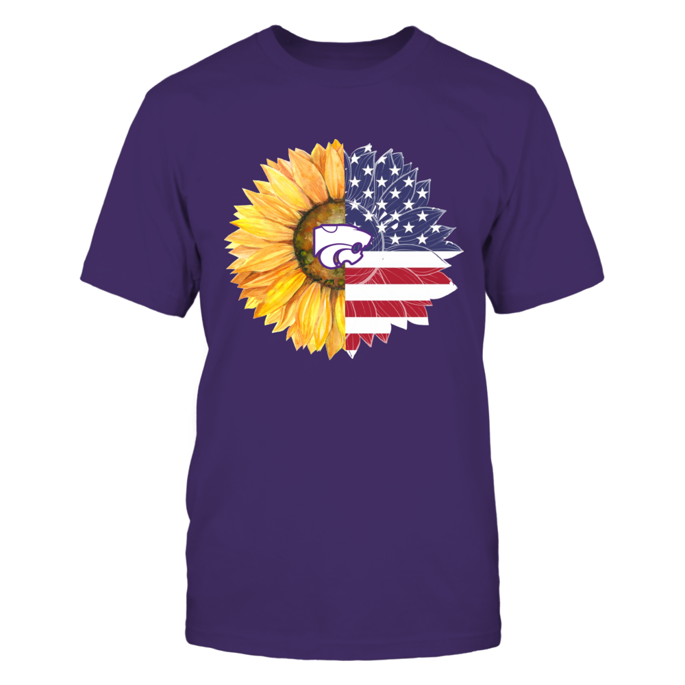 Kansas State Wildcats - Independence Day - Half Sunflower Half Flag Front picture