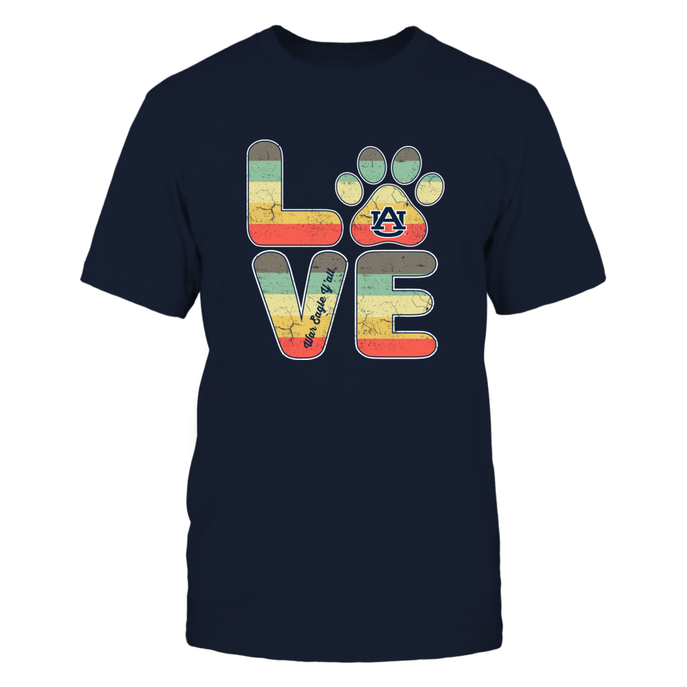 Auburn Tigers - Vintage Graphic - Stacked Love - Paw Front picture