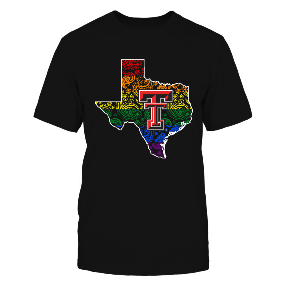 Texas Tech Red Raiders - Pride Month - Paisley State Map Front picture