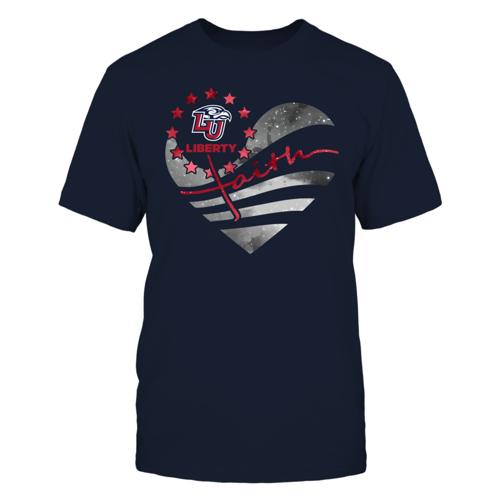 Liberty Flames - Galaxy Flag Heart - Faith Sunflower Front picture