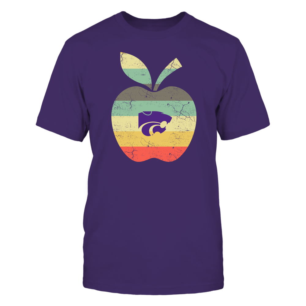 Kansas State Wildcats - Teacher - Apple Vintage Graphic Front picture
