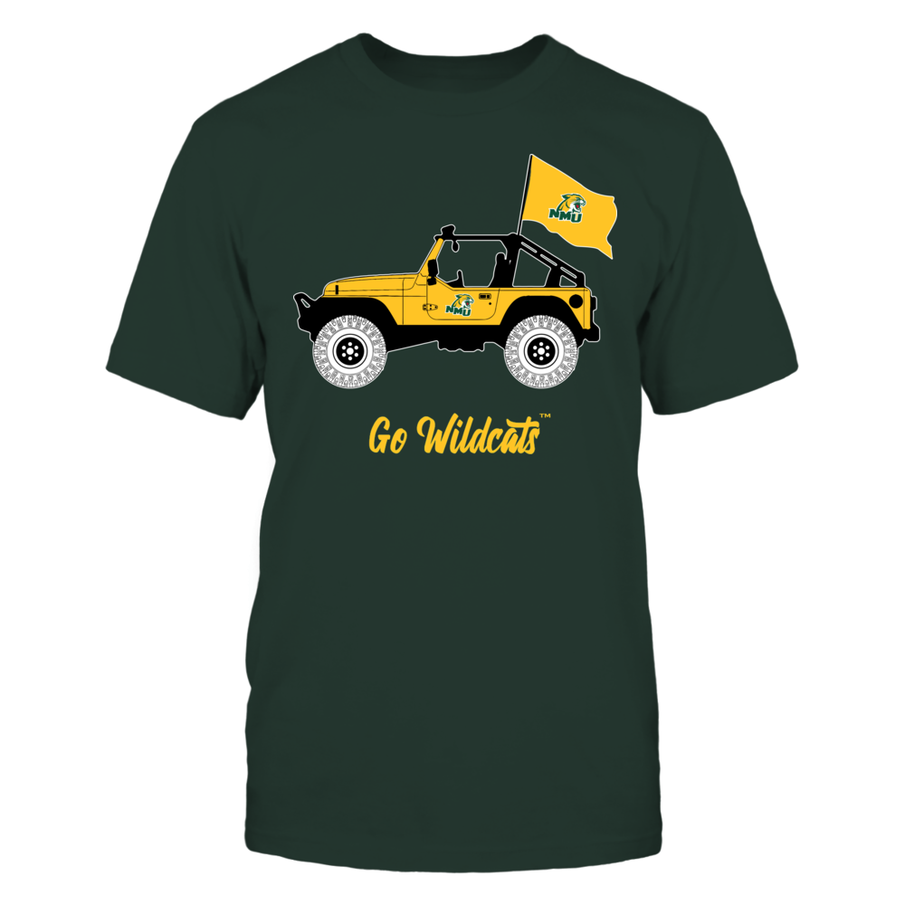 Northern Michigan Wildcats - Jeep - Banner - IF-IC13-DS75 Front picture