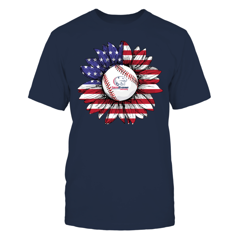 South Alabama Jaguars - Flag Pattern - Sunflower - Baseball Front picture
