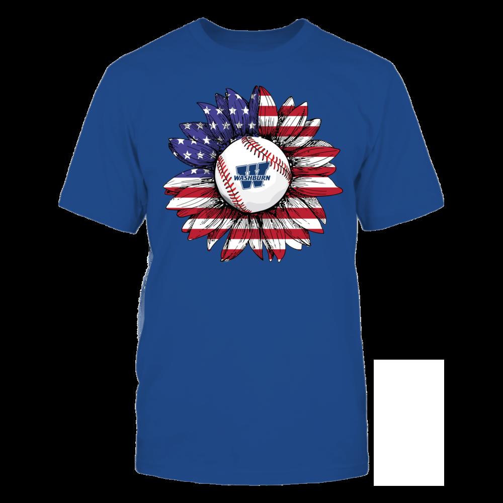 Washburn Ichabods - Flag Pattern - Sunflower - Baseball Front picture