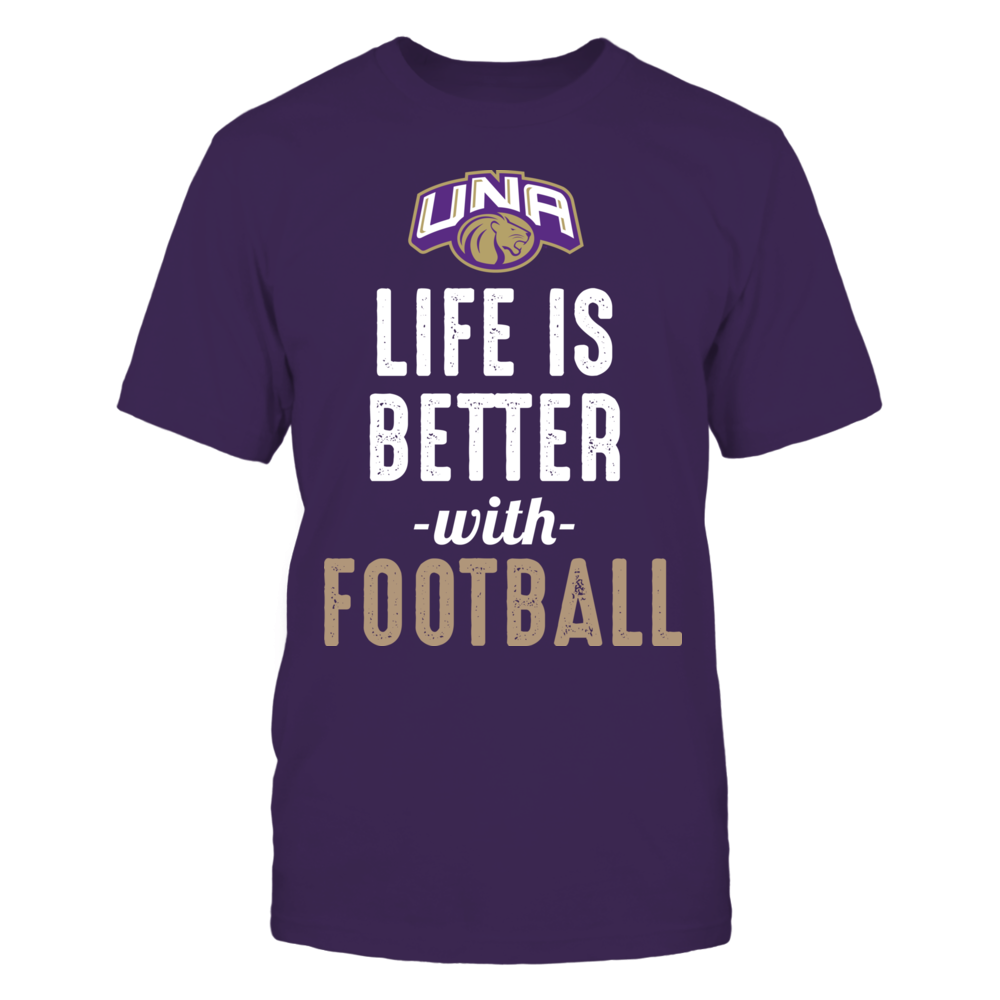 North Alabama Lions - Life is Better with Football Front picture
