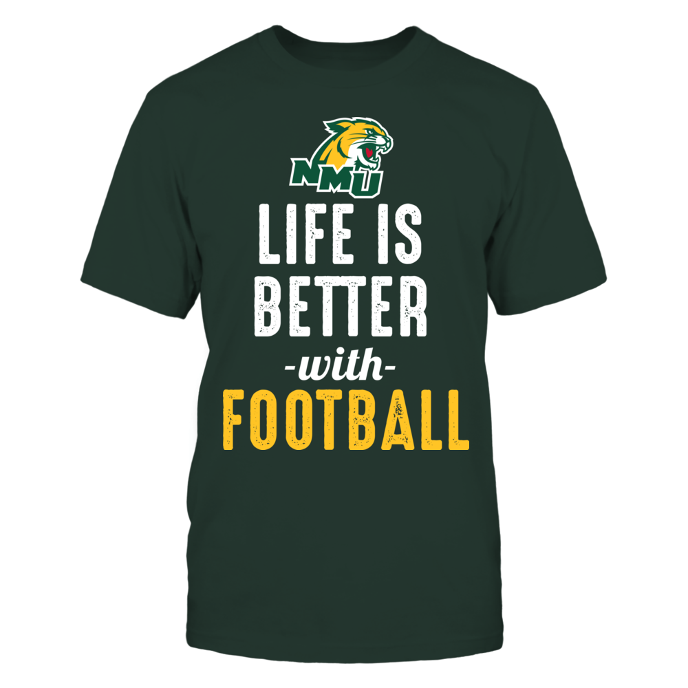 Northern Michigan Wildcats - Life is Better with Football Front picture