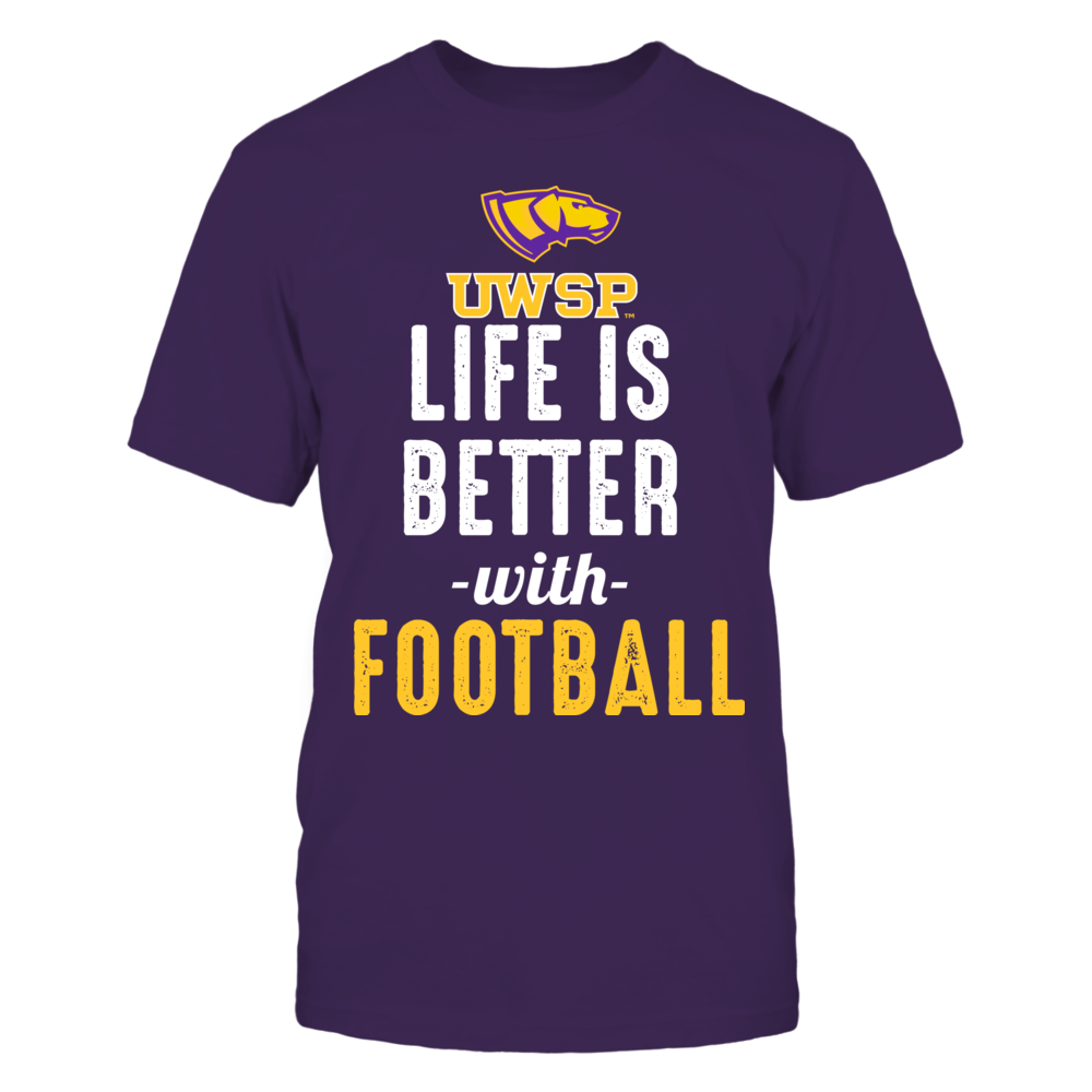 Wisconsin-Stevens Point Pointers - Life is Better with Football Front picture