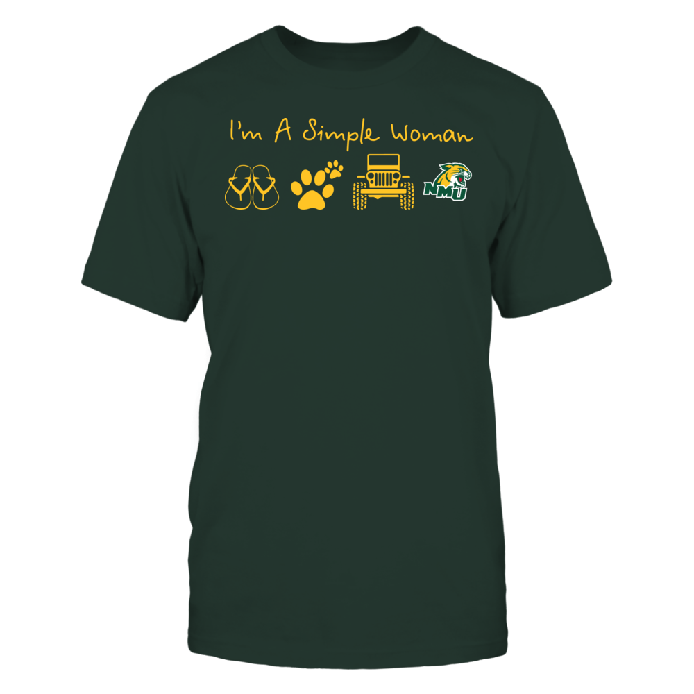 Northern Michigan Wildcats - Simple Woman - Team Front picture