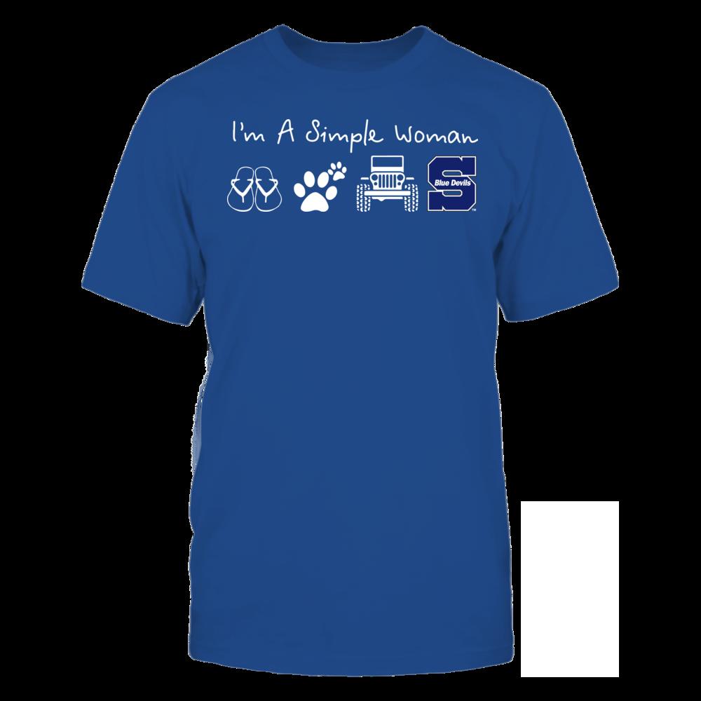Wisconsin Stout Blue Devils - Simple Woman - Team Front picture