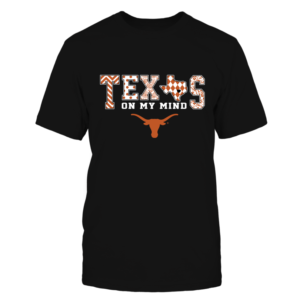 Texas Longhorns - Texas On My Mind - Pattern - State Map Front picture