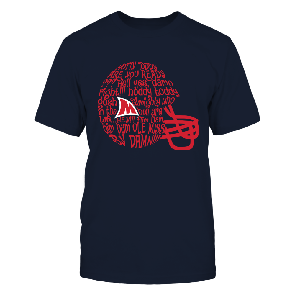 Ole Miss Rebels - Fight Song Inside Helmet Front picture