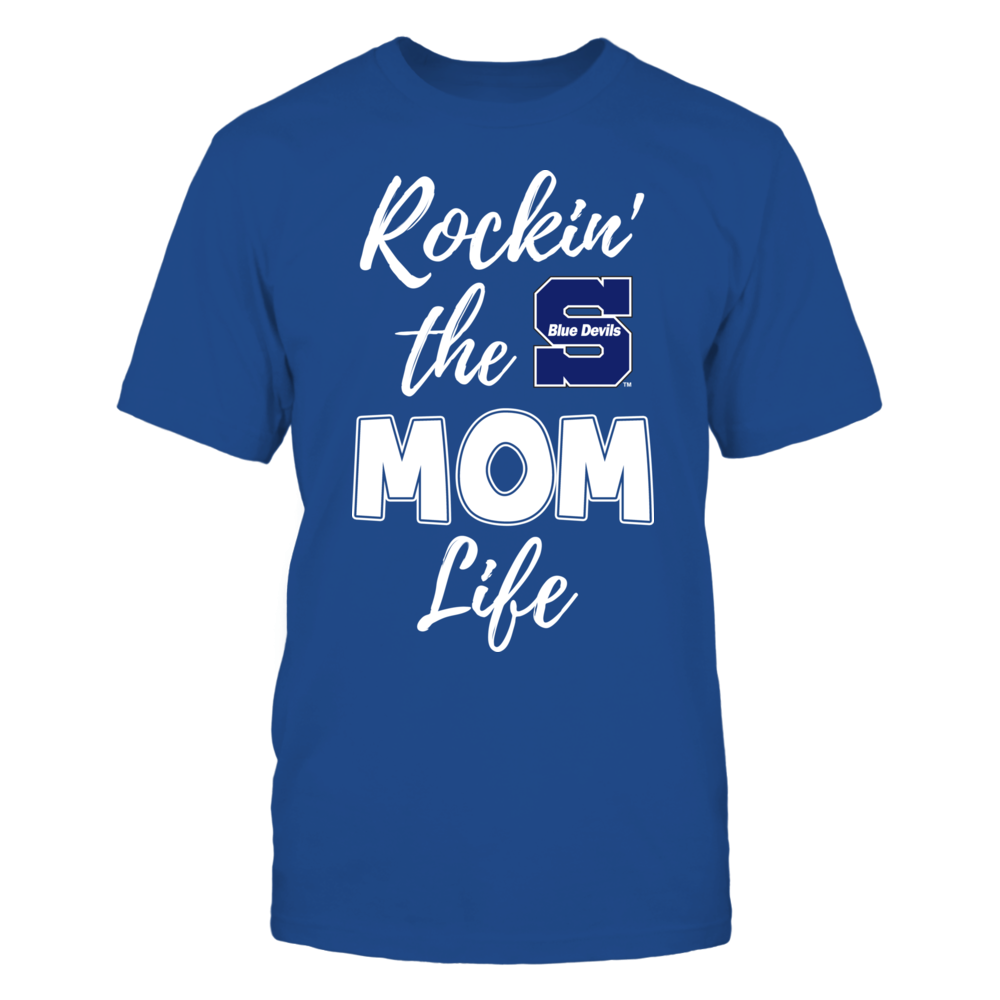 Wisconsin Stout Blue Devils - Rockin the Mom Life Front picture