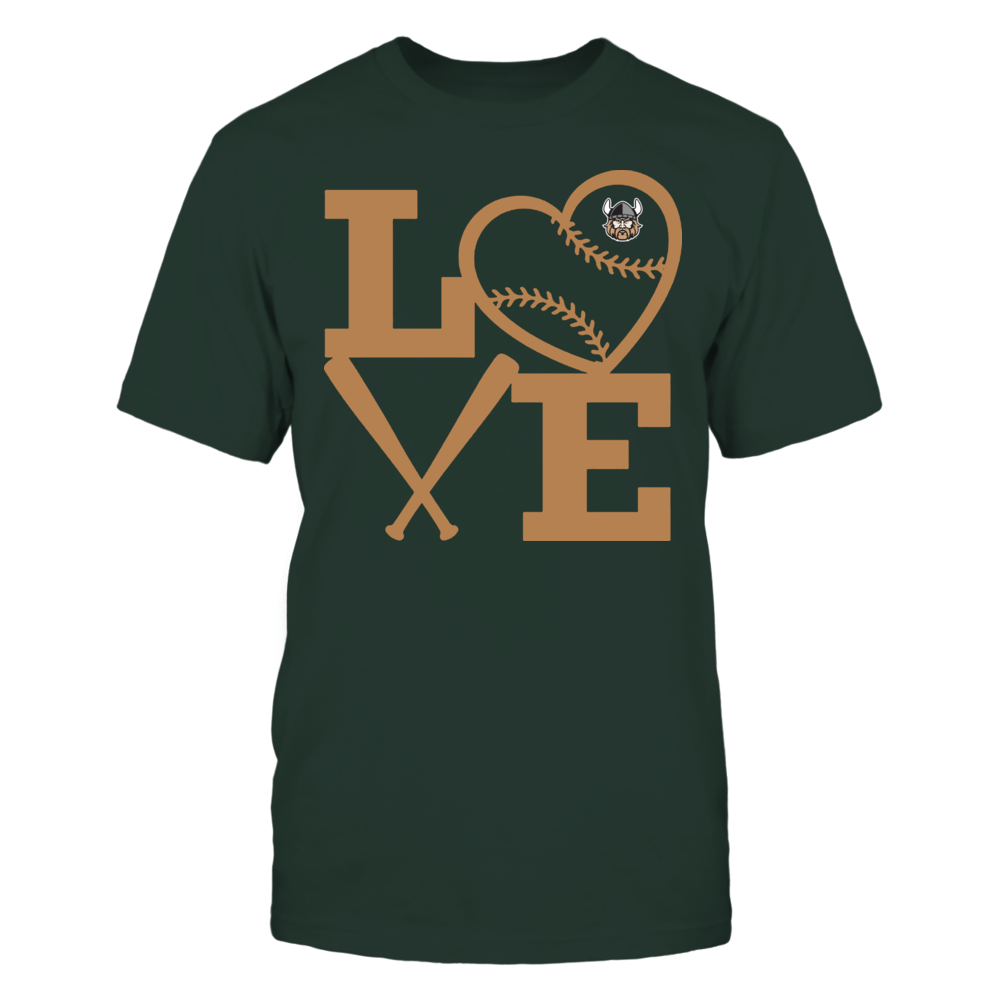 Cleveland State Vikings - Love - Baseball - Heart Front picture
