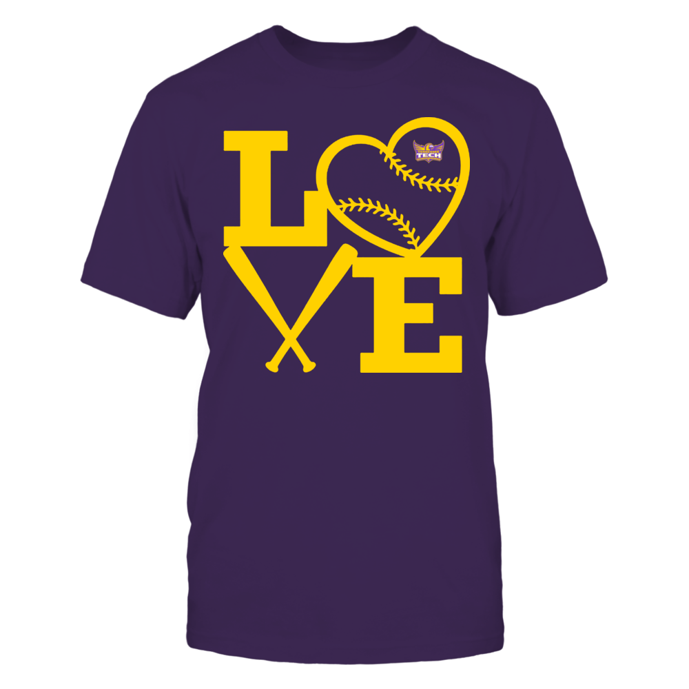 Tennessee Tech Golden Eagles - Love - Baseball - Heart Front picture
