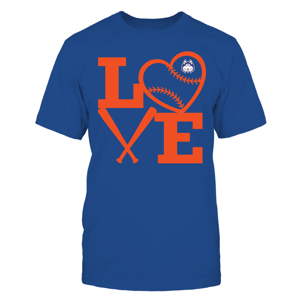 Houston Baptist Huskies - Love - Baseball - Heart Front picture