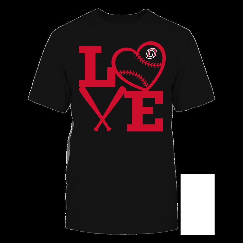 Nebraska Omaha Mavericks - Love - Baseball - Heart Front picture