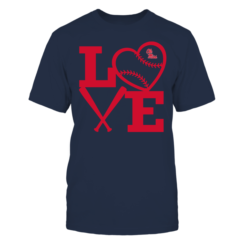 Ole Miss Rebels - Love - Baseball - Heart Front picture