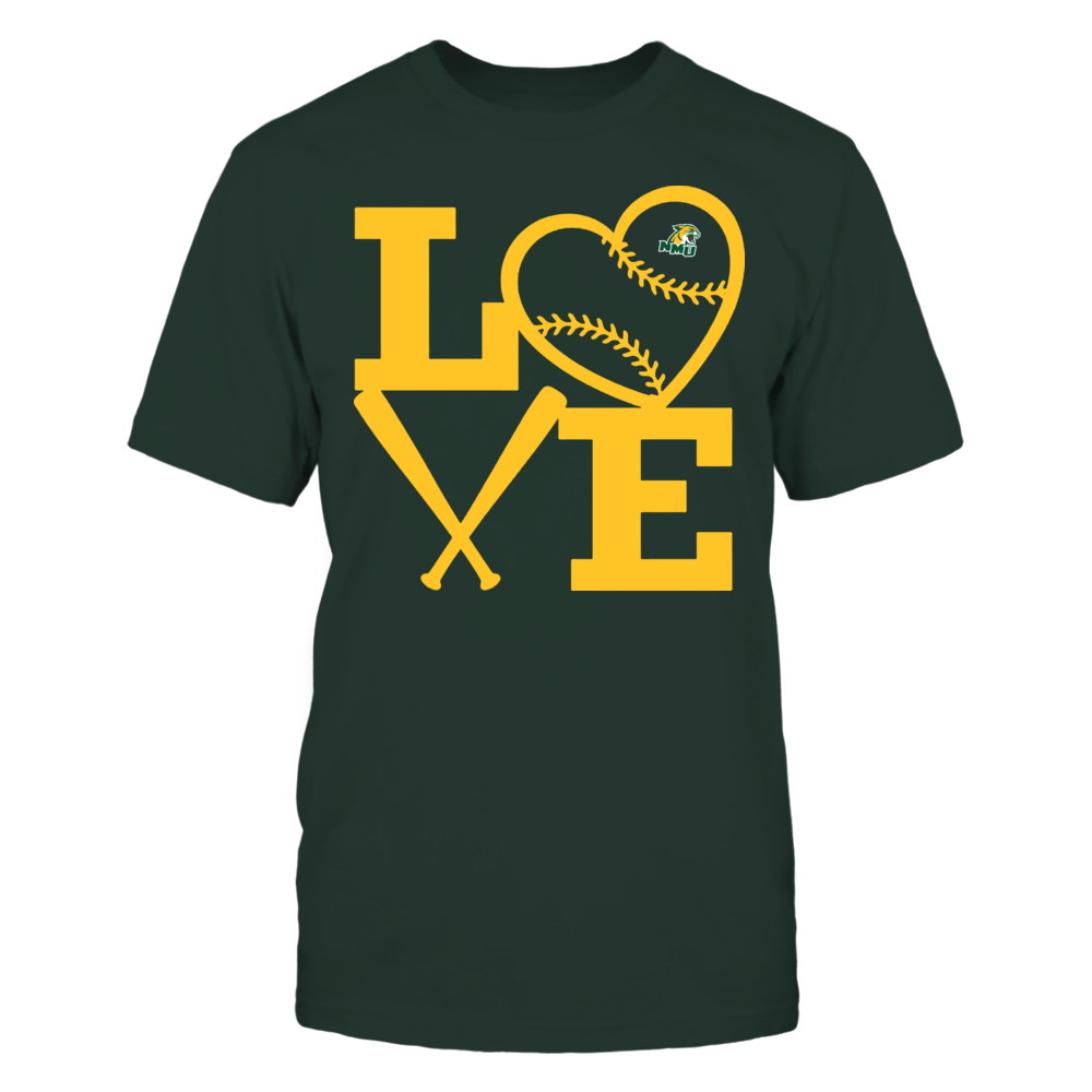 Northern Michigan Wildcats - Love - Baseball - Heart Front picture