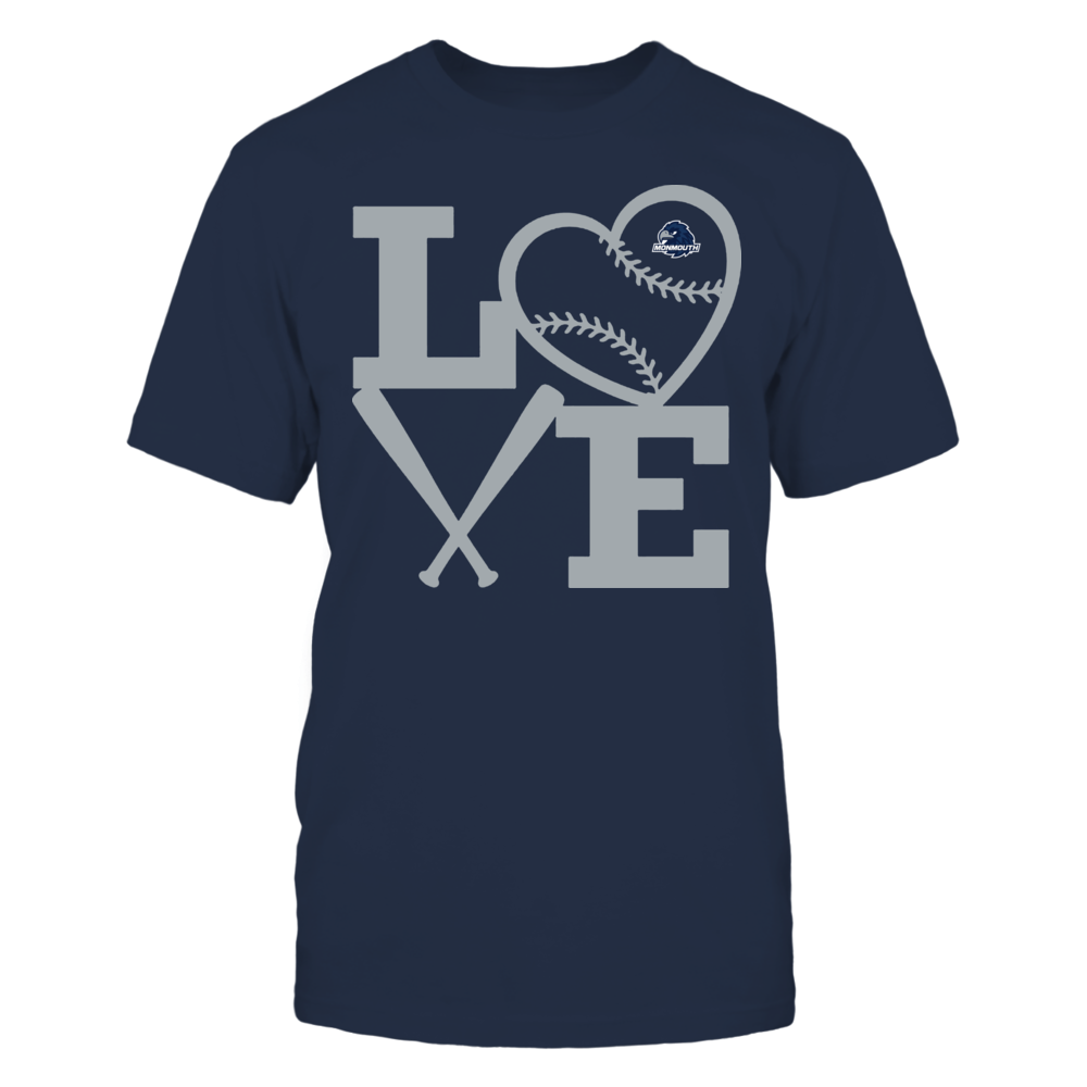 Monmouth Hawks - Love - Baseball - Heart Front picture