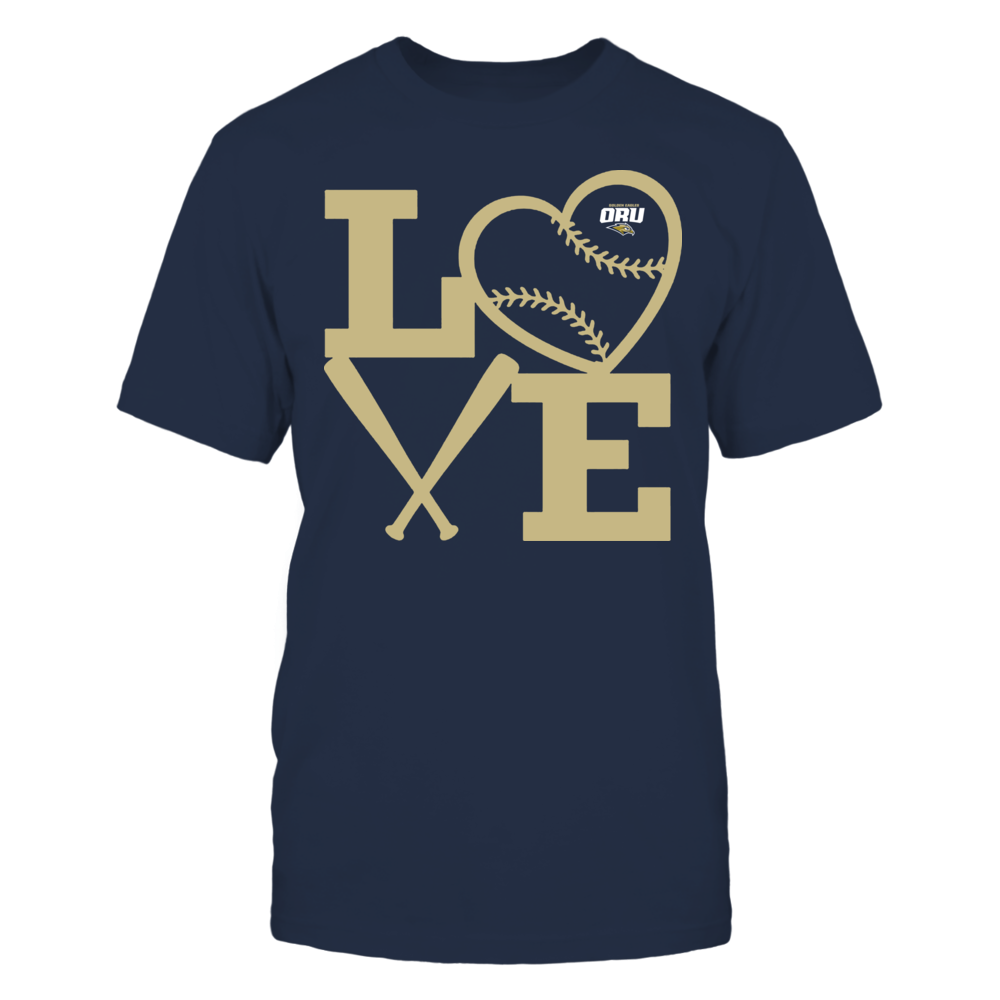 Oral Roberts Golden Eagles - Love - Baseball - Heart Front picture