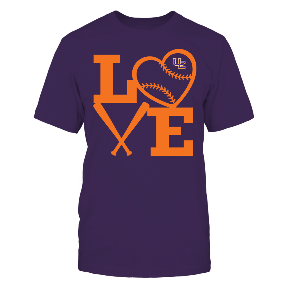 Evansville Purple Aces - Love - Baseball - Heart Front picture