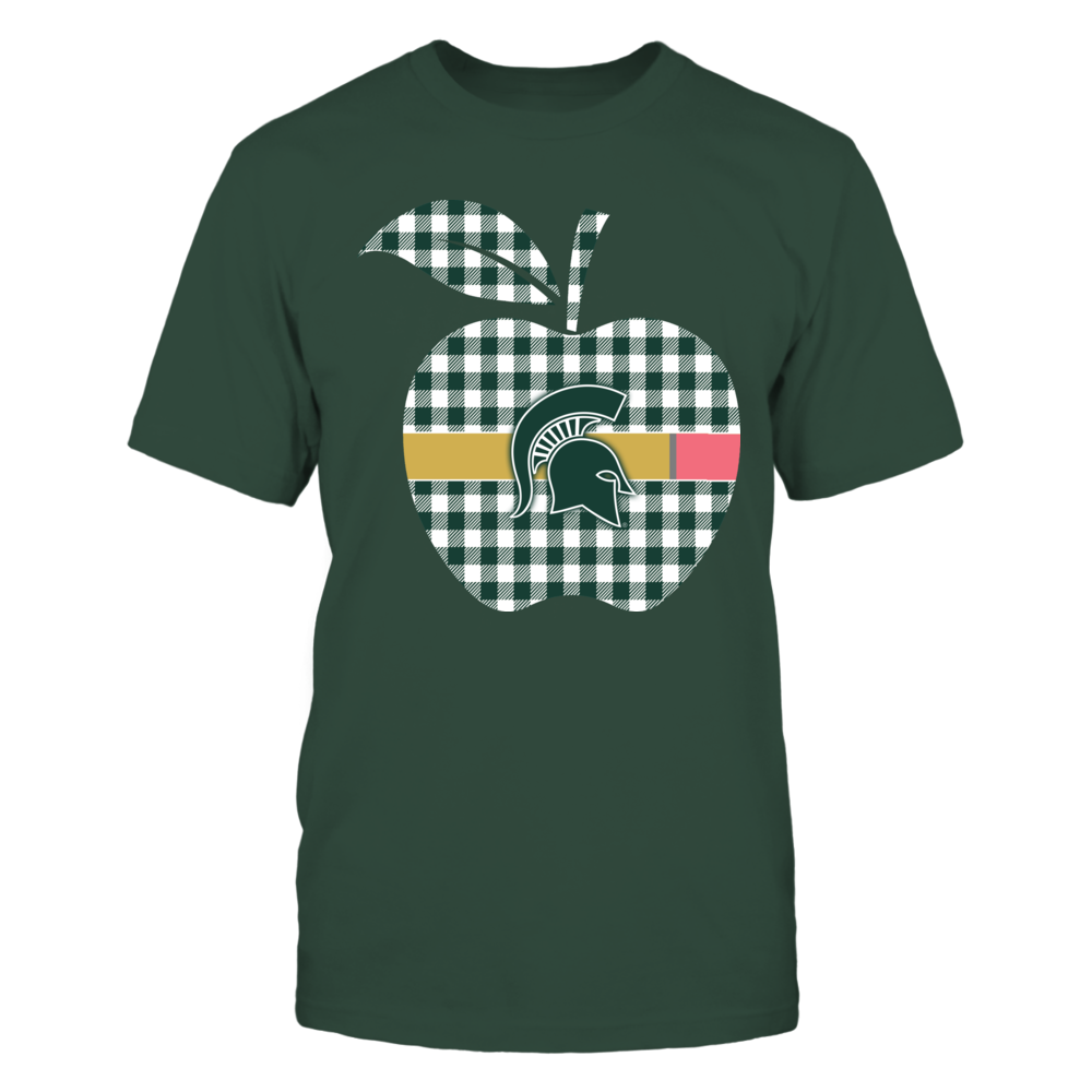 Michigan State Spartans - Checkered Apple Pencil Front picture
