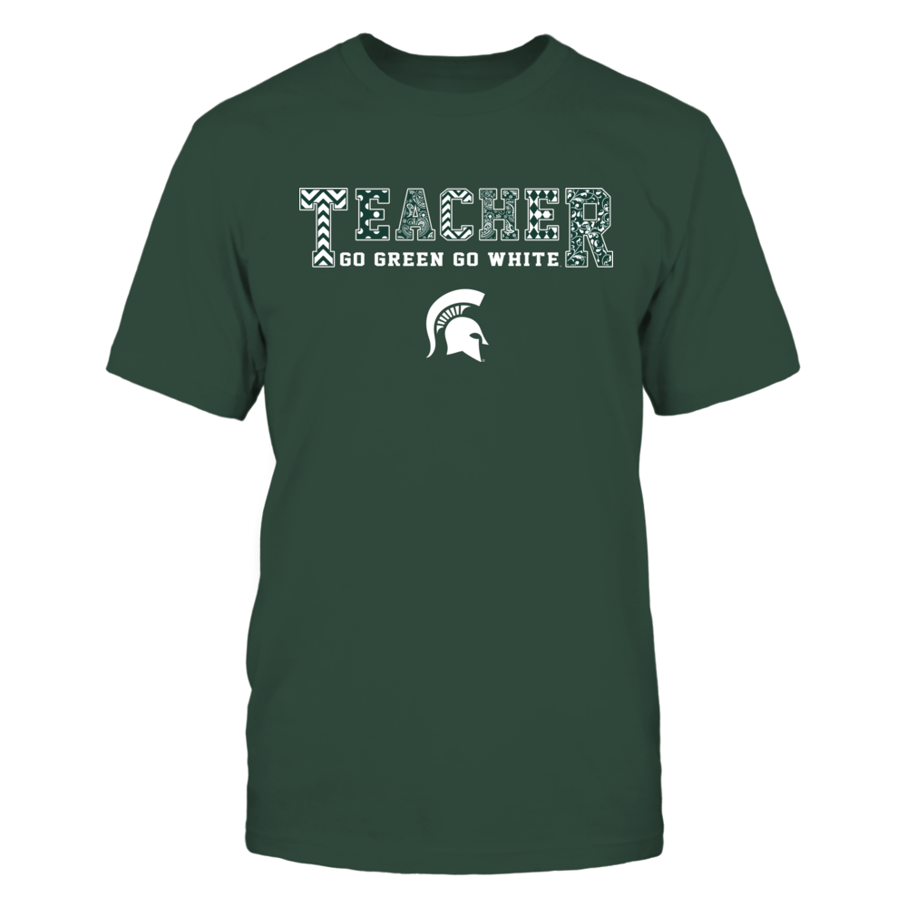 Michigan State Spartans - Teacher Patterned Team Slogan Front picture