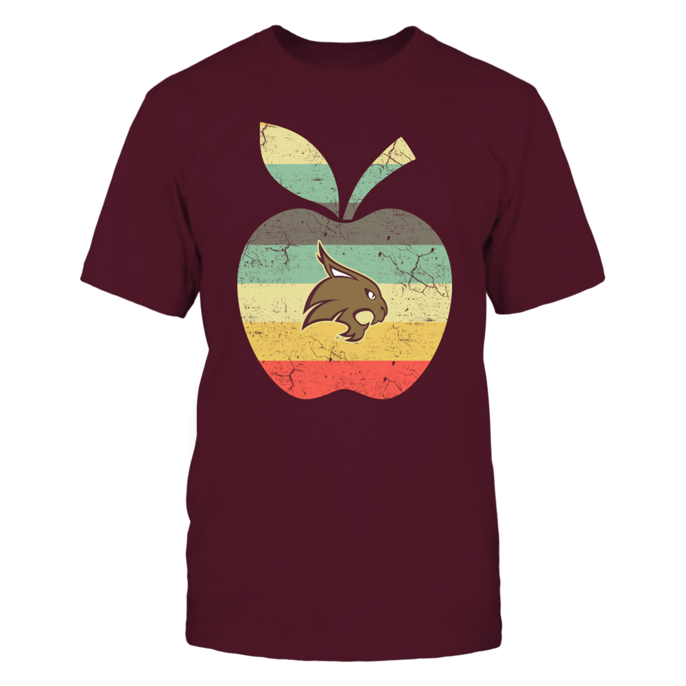Texas State Bobcats - Teacher - Apple Vintage Graphic Front picture