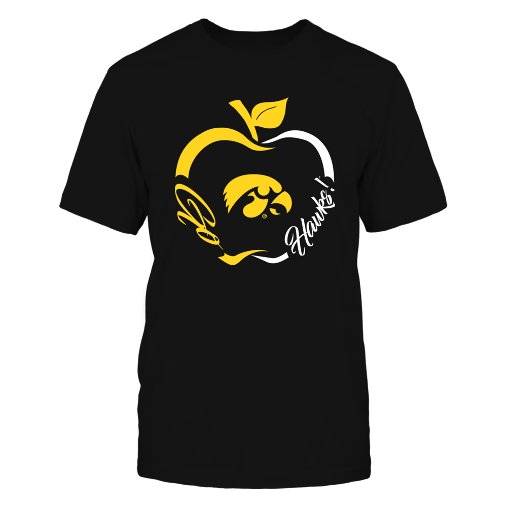 Iowa Hawkeyes - Apple Outline Slogan Front picture