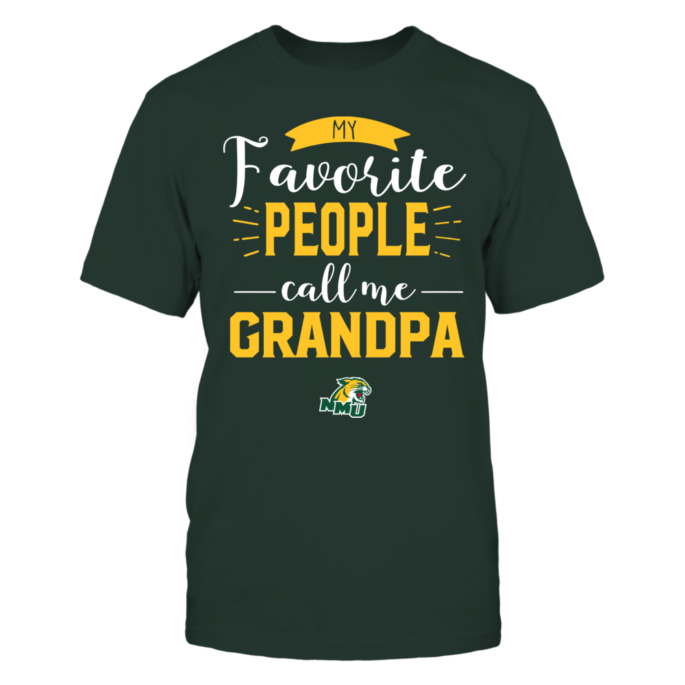 Northern Michigan Wildcats - My Favorite People Call Me - Grandpa Front picture