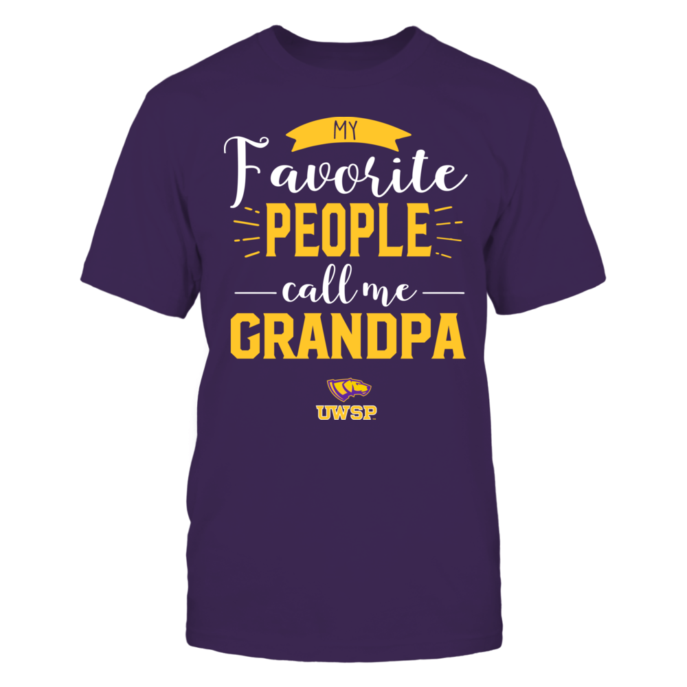 Wisconsin-Stevens Point Pointers - My Favorite People Call Me - Grandpa Front picture