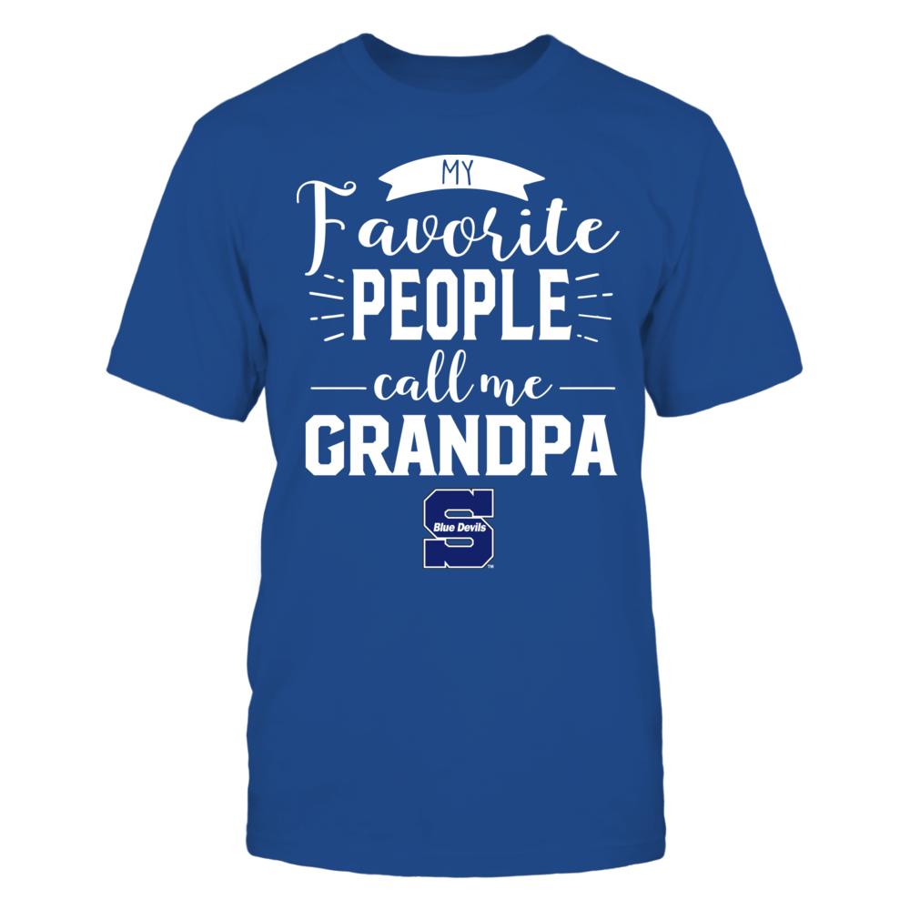 Wisconsin Stout Blue Devils - My Favorite People Call Me - Grandpa Front picture