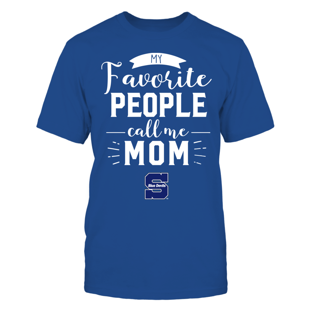 Wisconsin Stout Blue Devils - My Favorite People Call Me - Mom Front picture