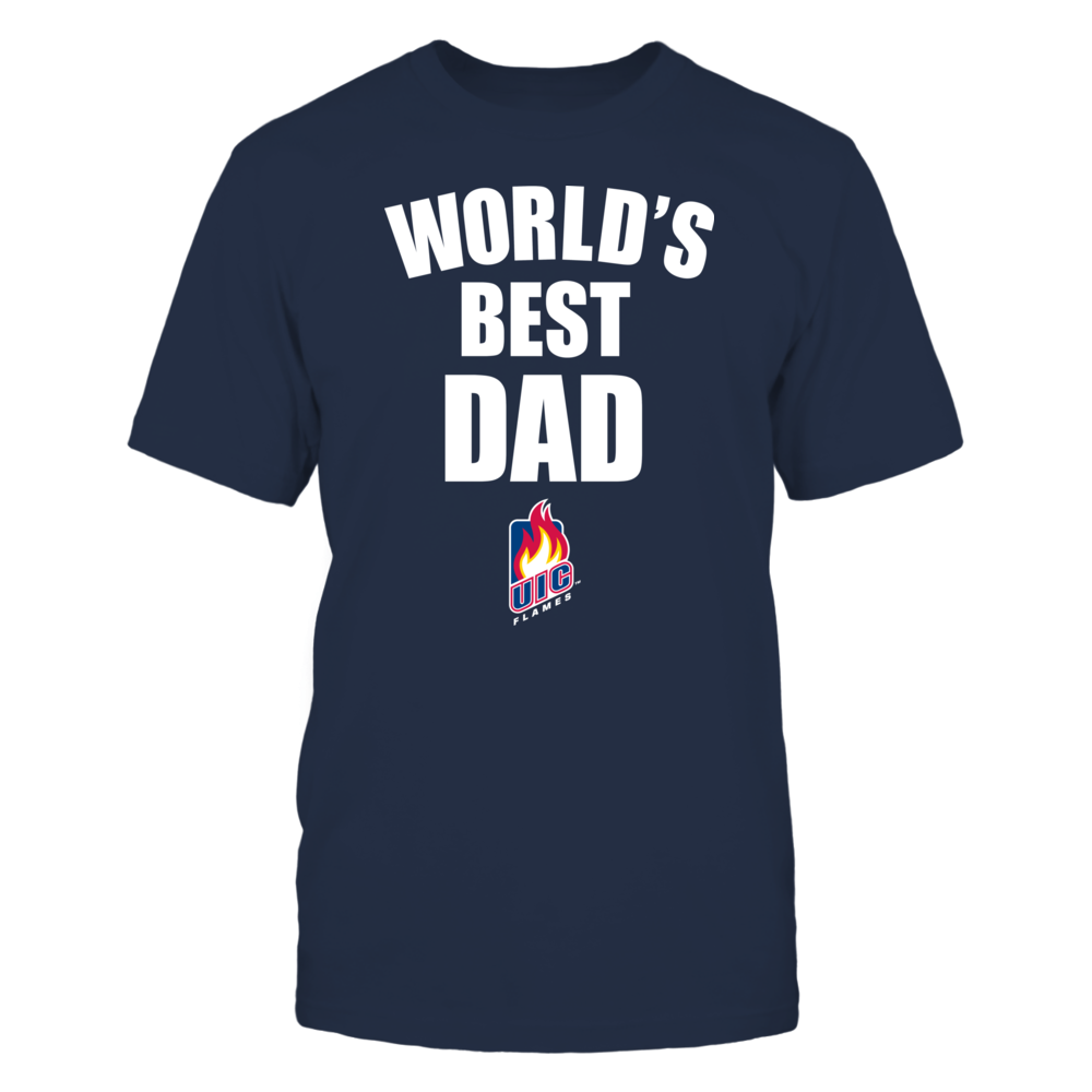 UIC Flames - World's Best Dad - Bold Front picture