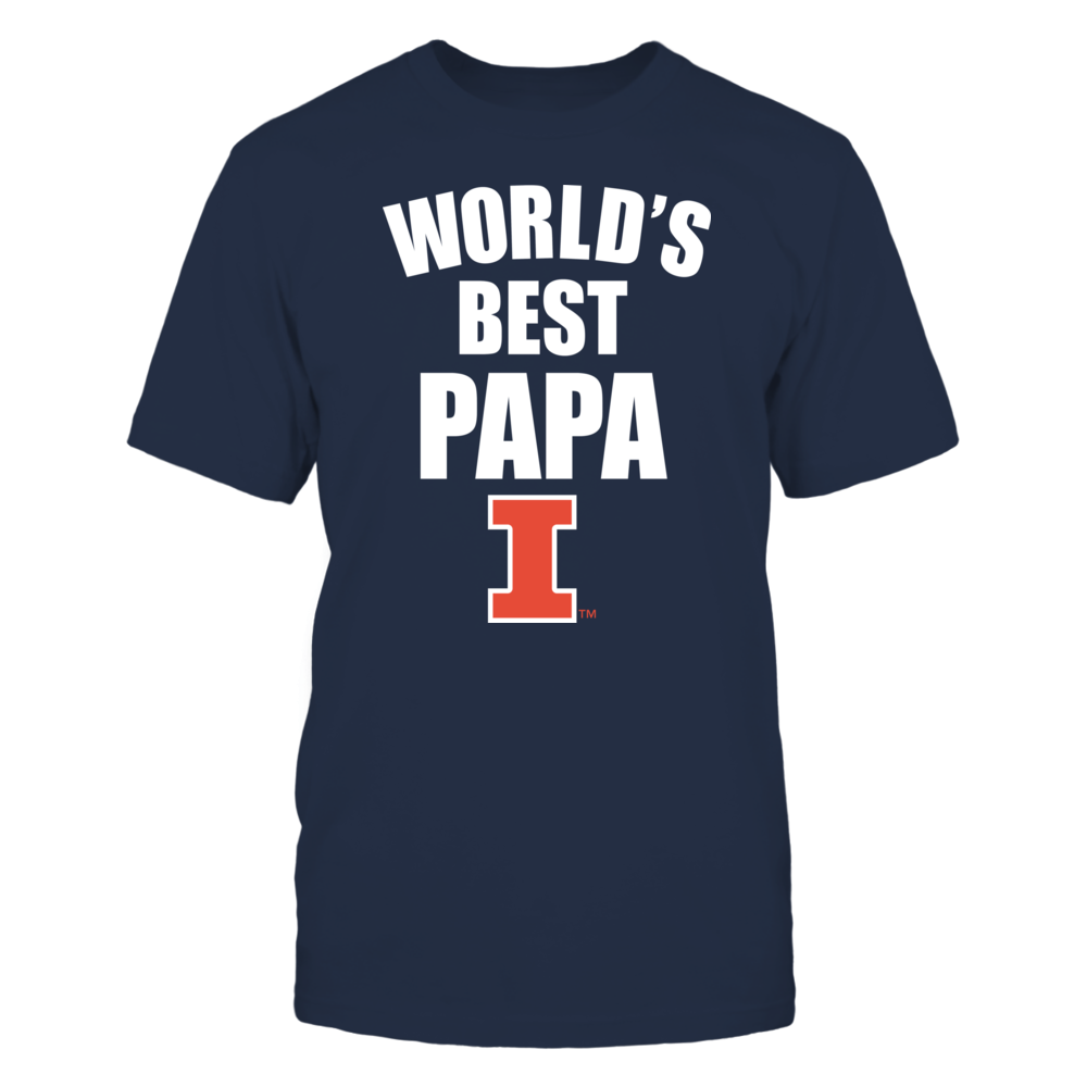 Illinois Fighting Illini - World's Best Papa - Bold Front picture
