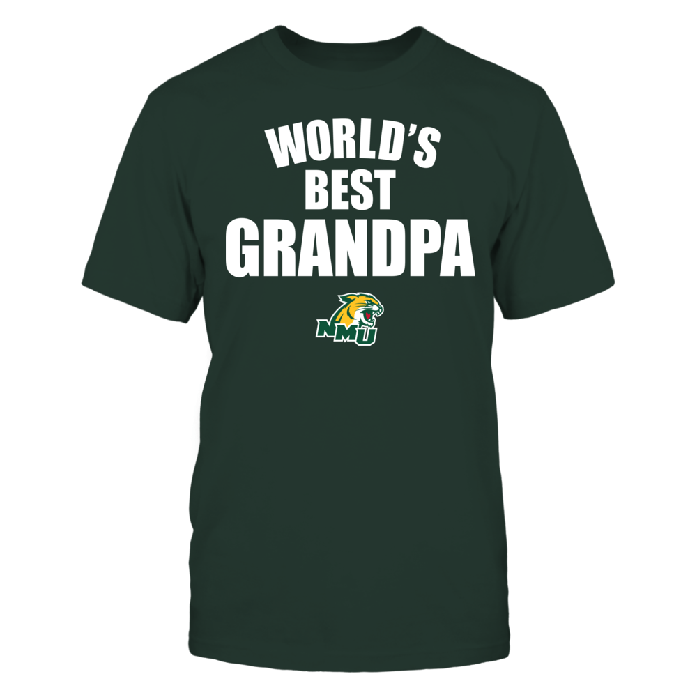 Northern Michigan Wildcats - World's Best Grandpa - Bold Front picture