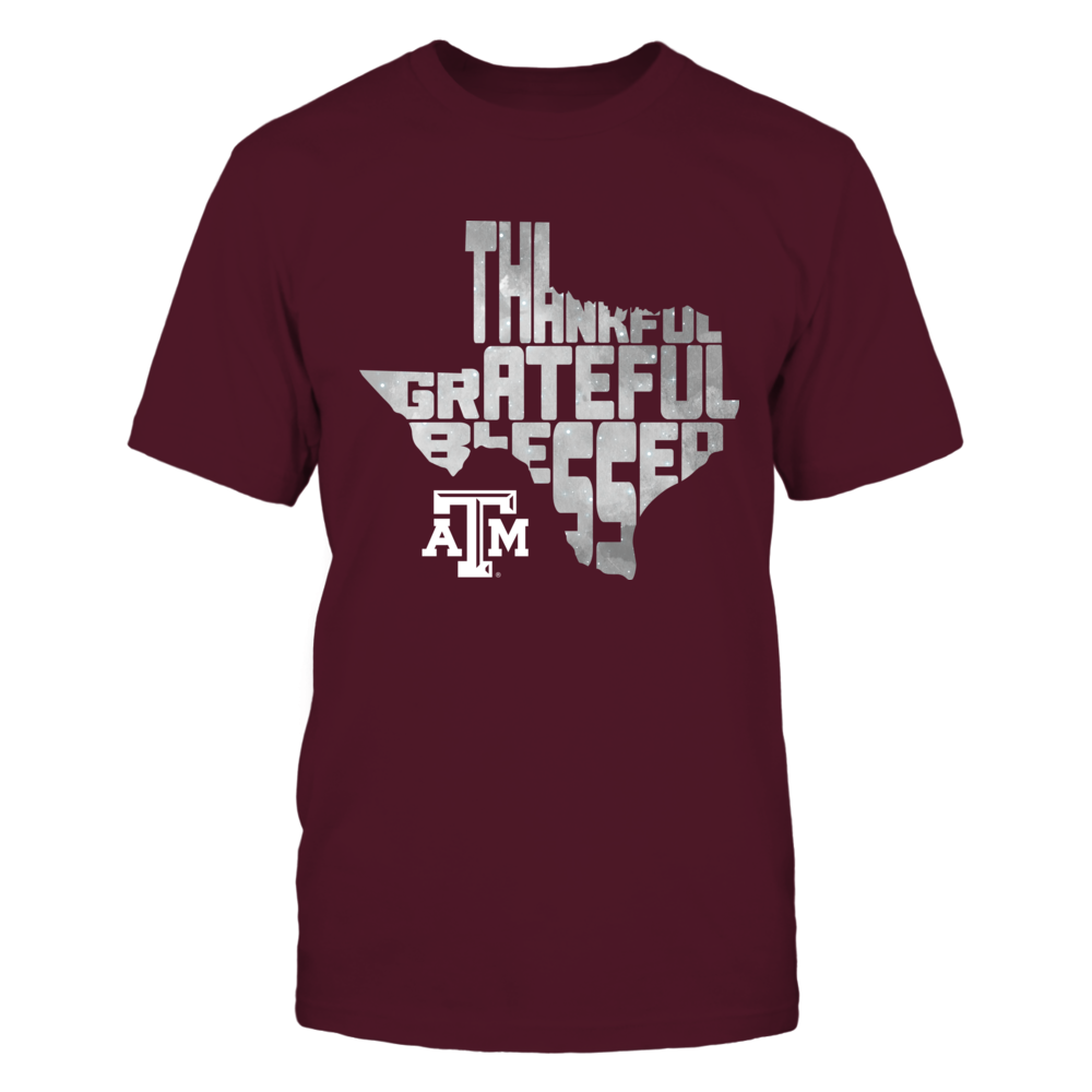 Texas A&M Aggies - Thankful Greatful Blessed - Inside State Map Front picture