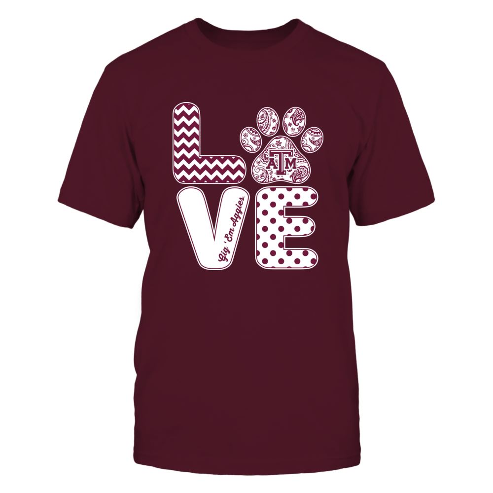 Texas A&M Aggies - Love - Paw Front picture