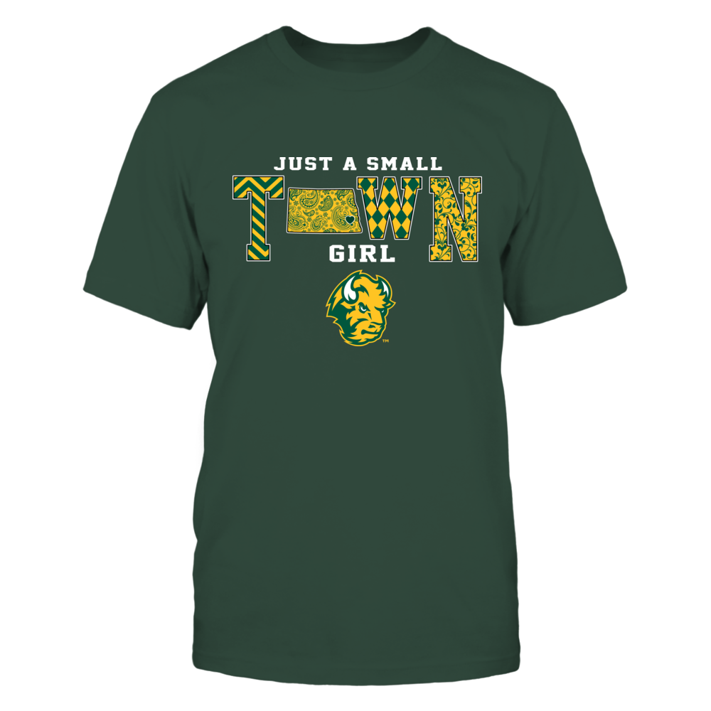 North Dakota State Bison - Small Town Girl - State Map - Patterned Front picture