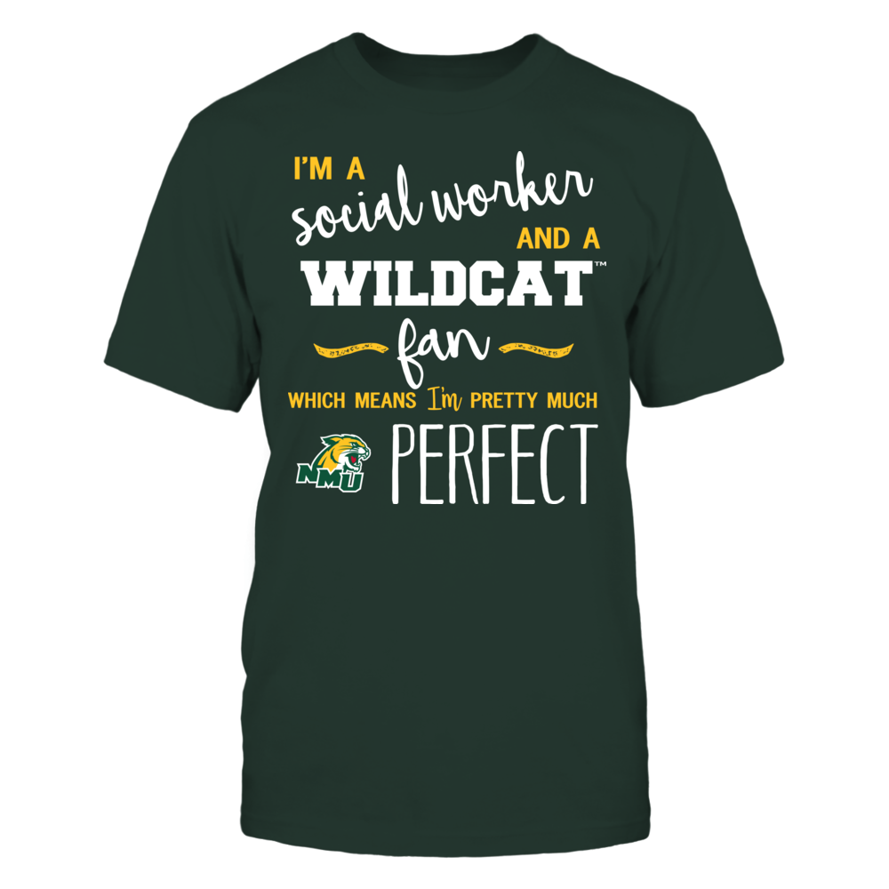 Northern Michigan Wildcats - Perfect Social Worker - Team Front picture