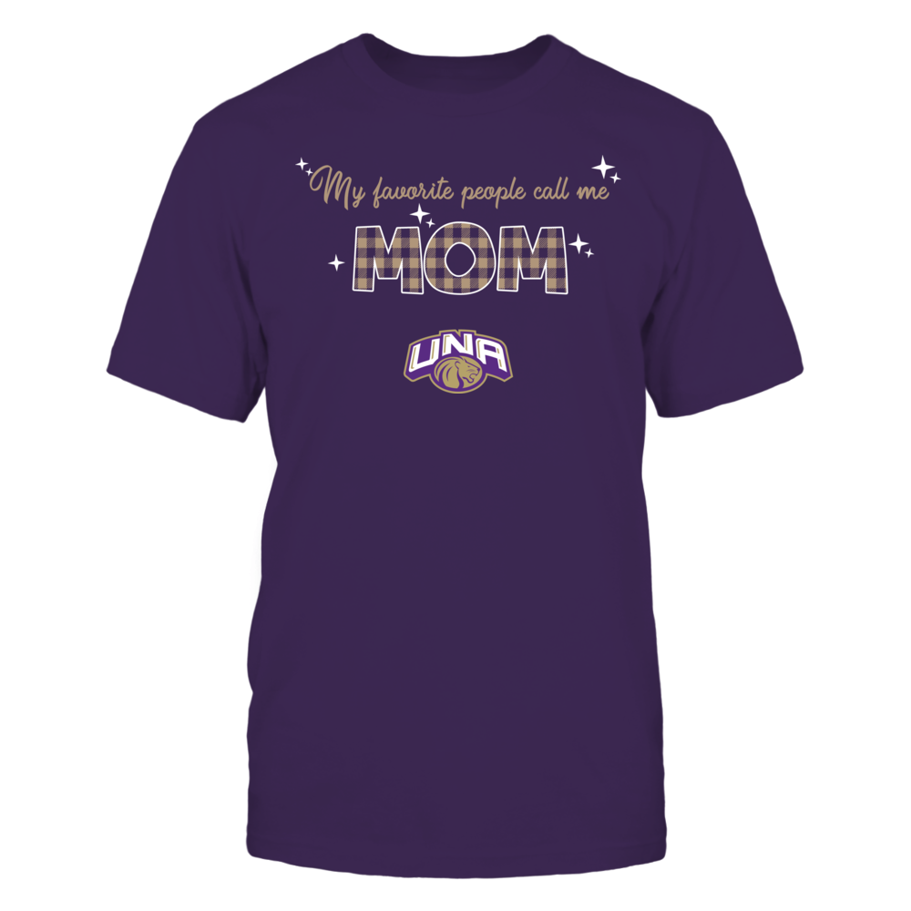 North Alabama Lions - My Favorite People Call Me MOM - Checkered Pattern Front picture