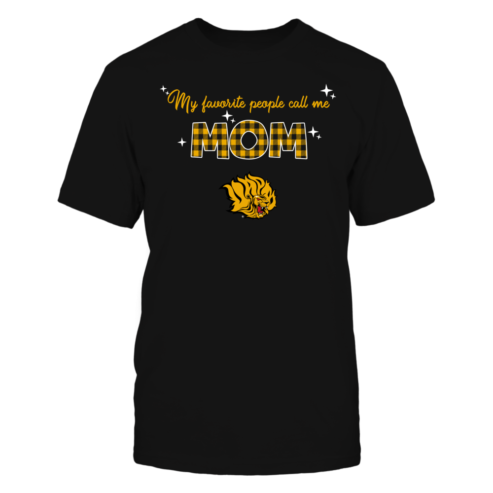 Arkansas Pine Bluff Golden Lions - My Favorite People Call Me MOM - Checkered Pattern Front picture