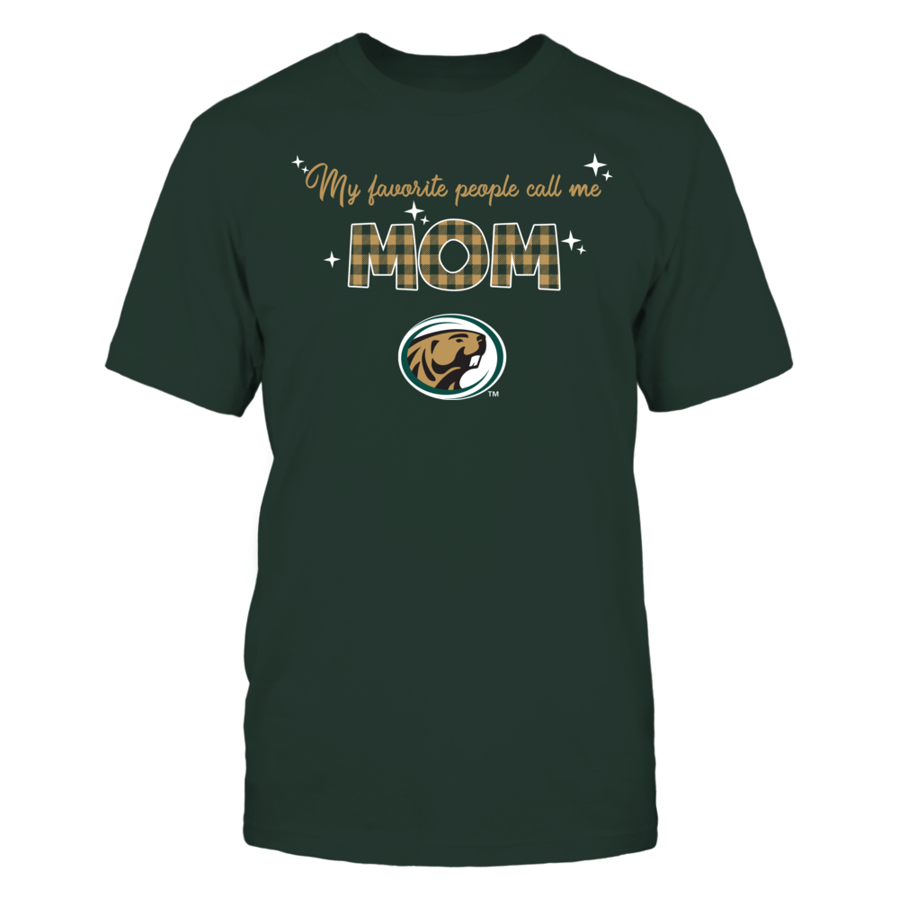 Bemidji State Beavers - My Favorite People Call Me MOM - Checkered Pattern Front picture