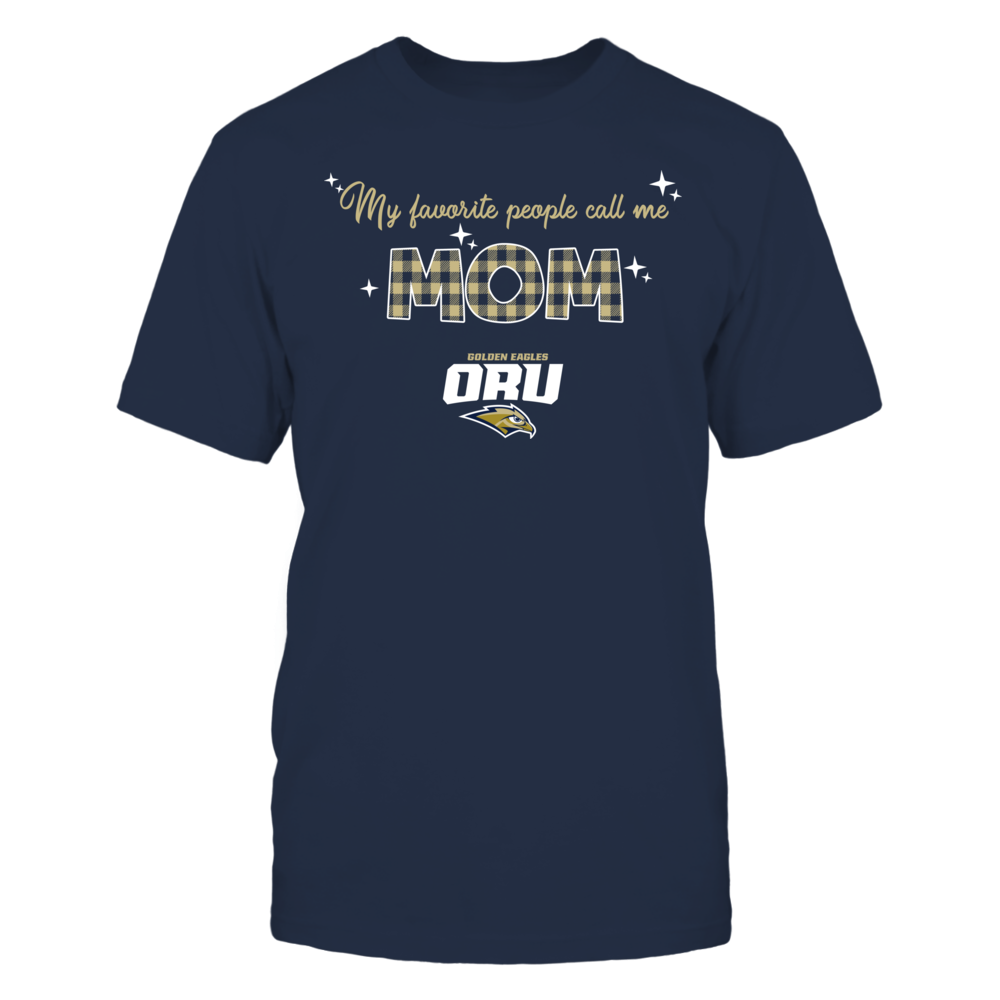 Oral Roberts Golden Eagles - My Favorite People Call Me MOM - Checkered Pattern Front picture