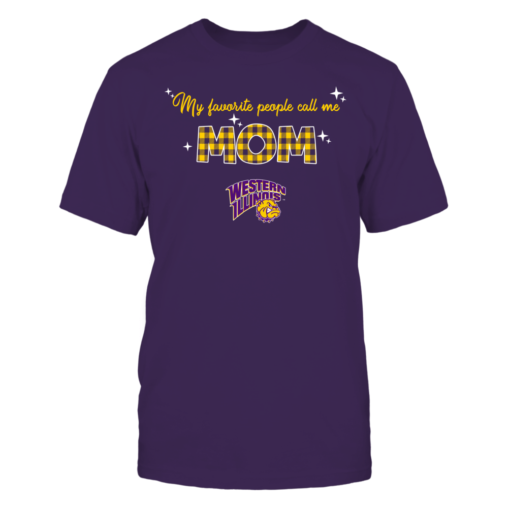 Western Illinois Leathernecks - My Favorite People Call Me MOM - Checkered Pattern Front picture