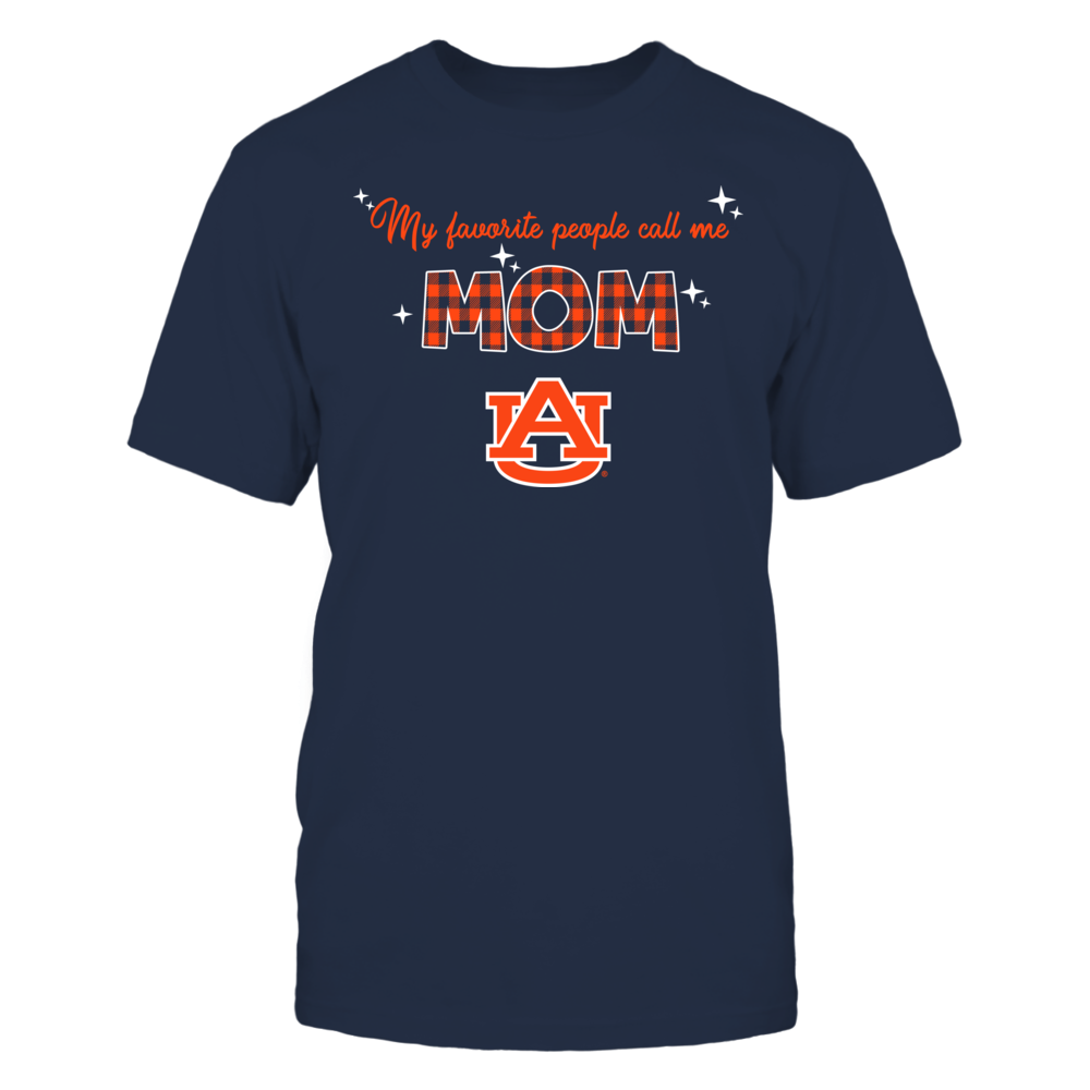 Auburn Tigers - My Favorite People Call Me MOM - Checkered Pattern Front picture