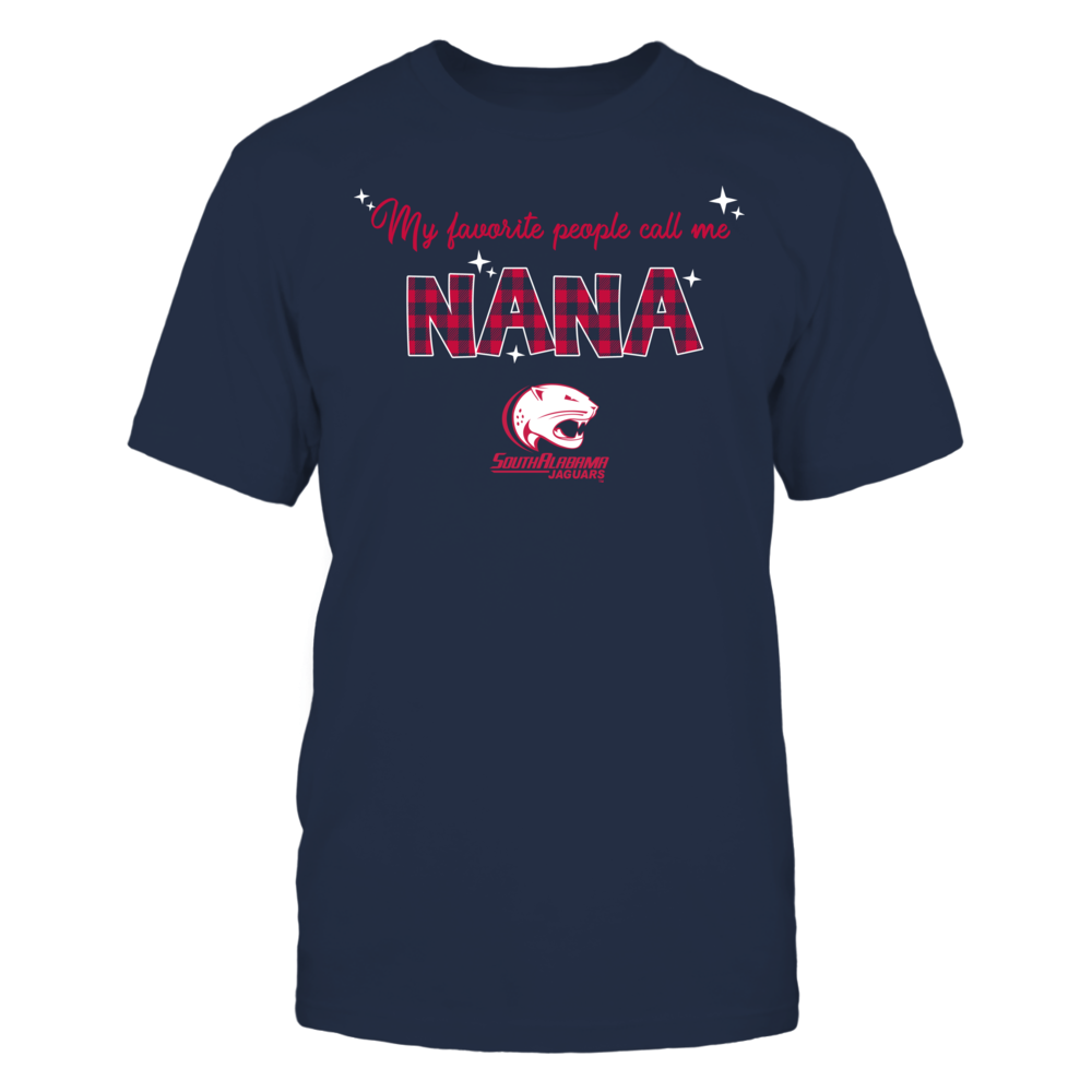 South Alabama Jaguars - My Favorite People Call Me Nana - Checkered Pattern Front picture
