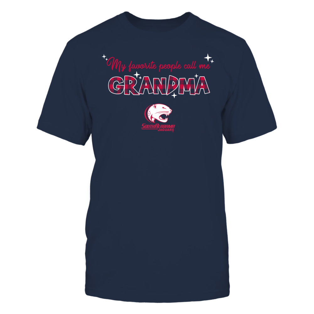 South Alabama Jaguars - My Favorite People Call Me Mimi - Checkered Pattern Front picture