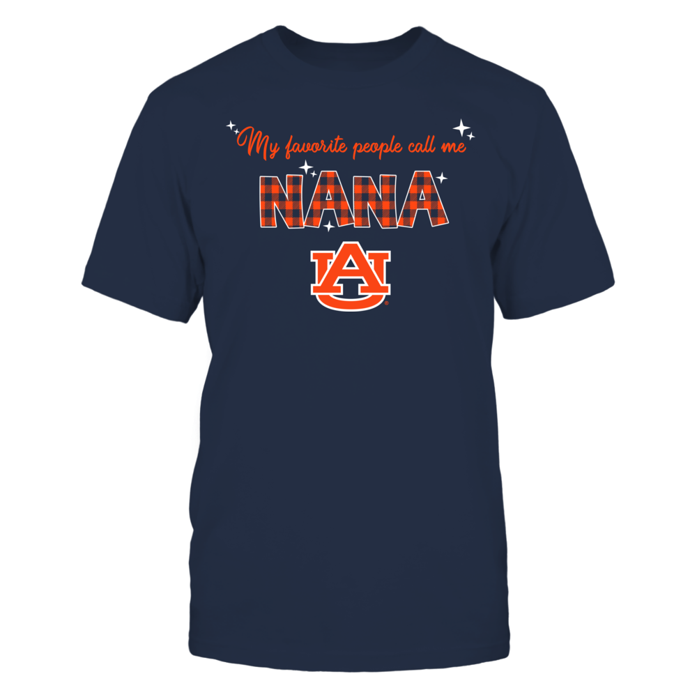 Auburn Tigers - My Favorite People Call Me Nana - Checkered Pattern Front picture