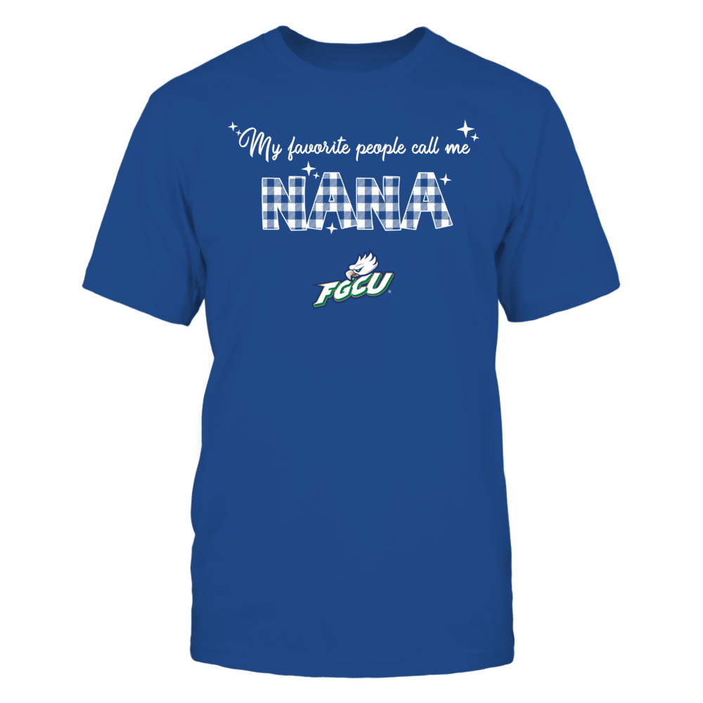 Florida Gulf Coast Eagles - My Favorite People Call Me Nana - Checkered Pattern Front picture